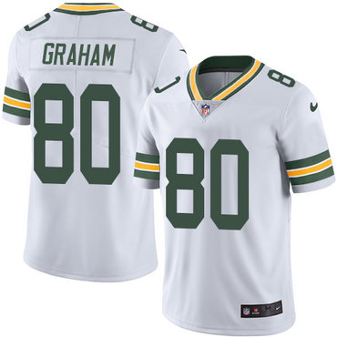 Nike Green Bay Packers #80 Jimmy Graham White Men's Stitched NFL Vapor Untouchable Limited Jersey