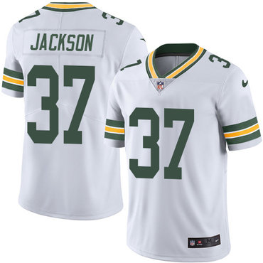 Nike Green Bay Packers #37 Josh Jackson White Men's Stitched NFL Vapor Untouchable Limited Jersey