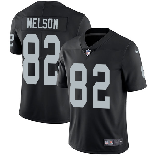 Nike Oakland Raiders #82 Jordy Nelson Black Team Color Men's Stitched NFL Vapor Untouchable Limited Jersey
