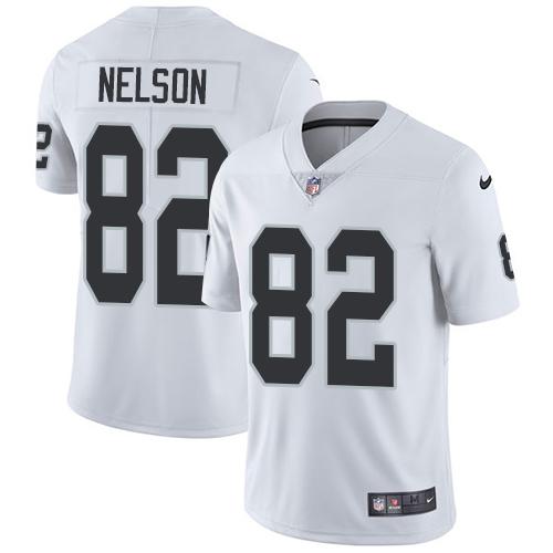 Nike Oakland Raiders #82 Jordy Nelson White Men's Stitched NFL Vapor Untouchable Limited Jersey