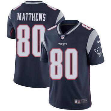 Nike New England Patriots #80 Jordan Matthews Navy Blue Team Color Men's Stitched NFL Vapor Untouchable Limited Jersey