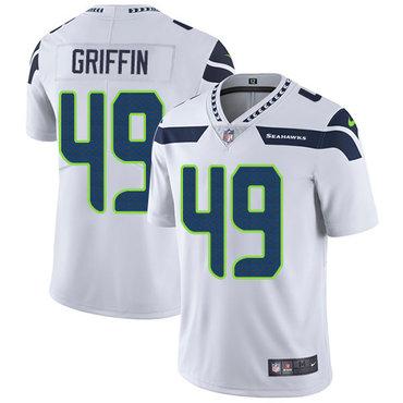Nike Seattle Seahawks #49 Shaquem Griffin White Men's Stitched NFL Vapor Untouchable Limited Jersey