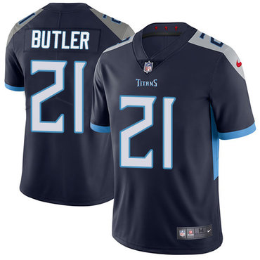 Nike Tennessee Titans #21 Malcolm Butler Navy Blue Alternate Men's Stitched NFL Vapor Untouchable Limited Jersey