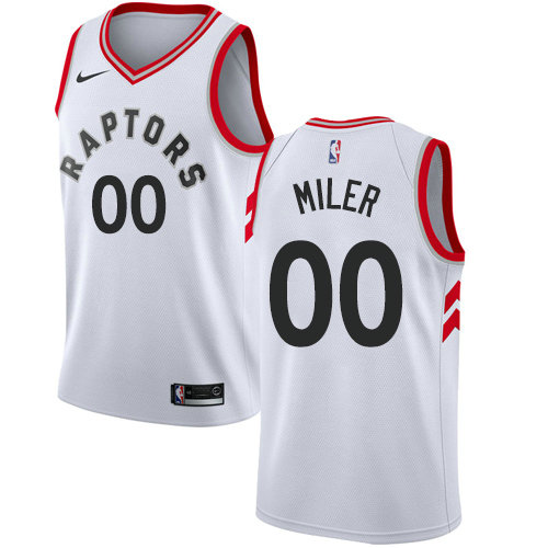 Men's Nike Customized Toronto Raptors Swingman Men's White NBA Association Edition Jersey