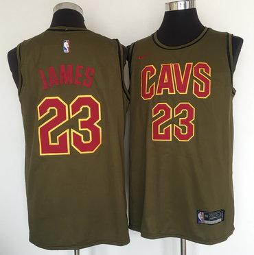 Cleveland Cavaliers #23 Lebron James Olive Nike Swingman Jersey