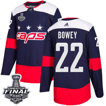Adidas Capitals #22 Madison Bowey Navy Authentic 2018 Stadium Series Stanley Cup Final Stitched NHL Jersey