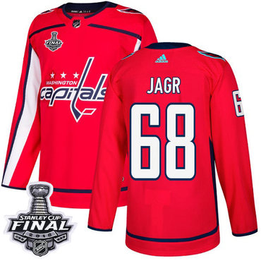 Adidas Capitals #68 Jaromir Jagr Red Home Authentic 2018 Stanley Cup Final Stitched NHL Jersey