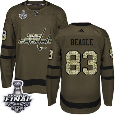 Adidas Capitals #83 Jay Beagle Green Salute to Service 2018 Stanley Cup Final Stitched NHL Jersey