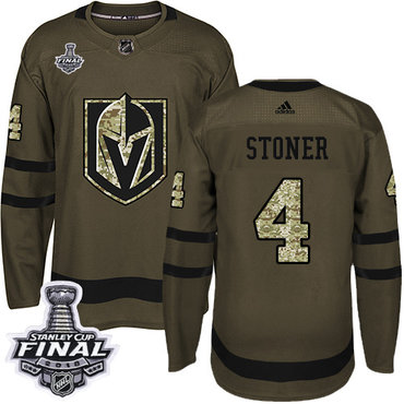 Adidas Golden Knights #4 Clayton Stoner Green Salute to Service 2018 Stanley Cup Final Stitched NHL Jersey