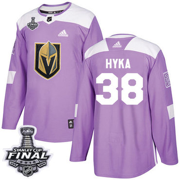 Adidas Golden Knights #38 Tomas Hyka Purple Authentic Fights Cancer 2018 Stanley Cup Final Stitched NHL Jersey