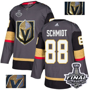 Adidas Golden Knights #88 Nate Schmidt Grey Home Authentic Fashion Gold 2018 Stanley Cup Final Stitched NHL Jersey