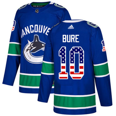 Adidas Vancouver Canucks #10 Pavel Bure Blue Home Authentic USA Flag Youth Stitched NHL Jersey