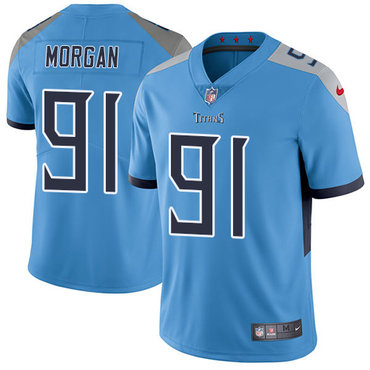 Nike Tennessee Titans #91 Derrick Morgan Light Blue Team Color Men's Stitched NFL Vapor Untouchable Limited Jersey