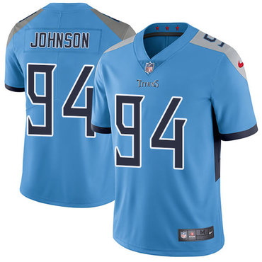 Nike Tennessee Titans #94 Austin Johnson Light Blue Team Color Men's Stitched NFL Vapor Untouchable Limited Jersey