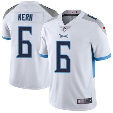 Nike Tennessee Titans #6 Brett Kern White Men's Stitched NFL Vapor Untouchable Limited Jersey