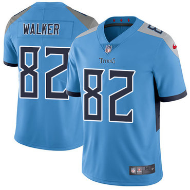 Nike Tennessee Titans #82 Delanie Walker Light Blue Team Color Men's Stitched NFL Vapor Untouchable Limited Jersey