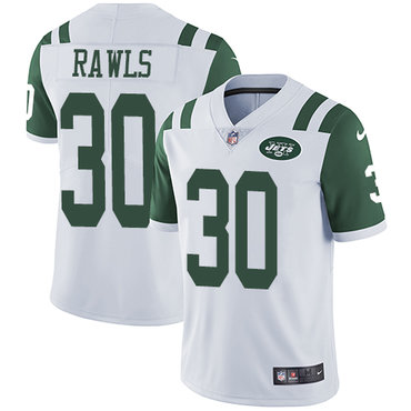 Nike New York Jets #30 Thomas Rawls White Men's Stitched NFL Vapor Untouchable Limited Jersey