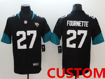 Custom Nike Jacksonville Jaguars Black New 2018 Vapor Untouchable Limited Jersey
