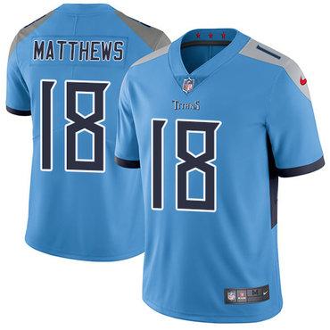 Nike Titans #18 Rishard Matthews Light Blue Team Color Youth Stitched NFL Vapor Untouchable Limited Jersey