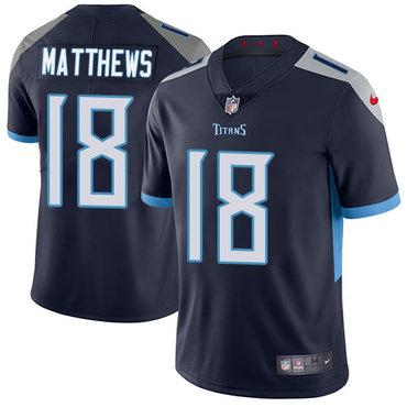 Nike Titans #18 Rishard Matthews Navy Blue Alternate Youth Stitched NFL Vapor Untouchable Limited Jersey