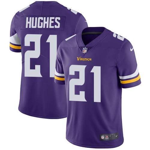 Nike Vikings #21 Mike Hughes Purple Team Color Youth Stitched NFL Vapor Untouchable Limited Jersey
