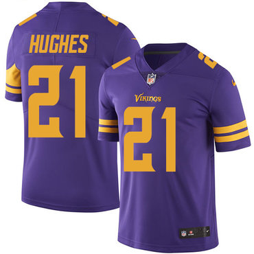 Nike Vikings #21 Mike Hughes Purple Youth Stitched NFL Limited Rush Jersey