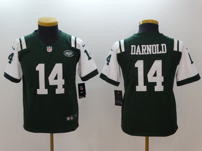 Youth Nike Jets #14 Sam Darnold Green Vapor Untouchable Player Limited Jersey