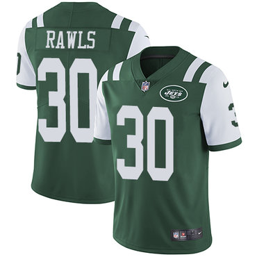 Youth Nike Jets #30 Thomas Rawls Green Team Color Stitched NFL Vapor Untouchable Limited Jersey