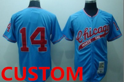 Custom Chicago White Sox 1972 Blue Throwback Jersey