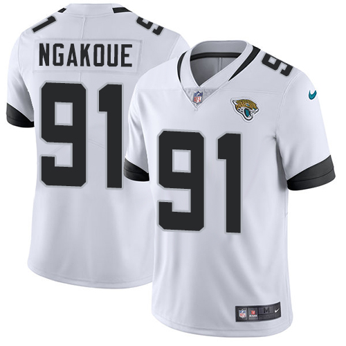 Nike Jacksonville Jaguars #91 Yannick Ngakoue White Men's Stitched NFL Vapor Untouchable Limited Jersey