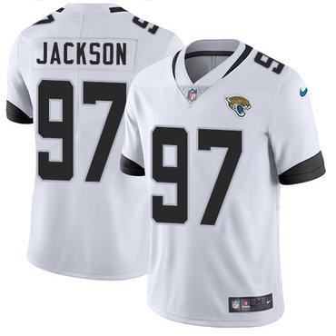 Nike Jacksonville Jaguars #97 Malik Jackson White Men's Stitched NFL Vapor Untouchable Limited Jersey