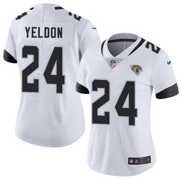 Nike Jacksonville Jaguars #24 T.J. Yeldon White Women's Stitched NFL Vapor Untouchable Limited Jersey