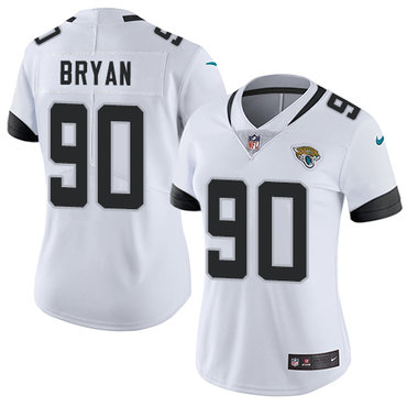 Nike Jacksonville Jaguars #90 Taven Bryan White Women's Stitched NFL Vapor Untouchable Limited Jersey