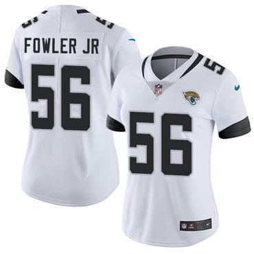 Nike Jacksonville Jaguars #56 Dante Fowler Jr White Women's Stitched NFL Vapor Untouchable Limited Jersey