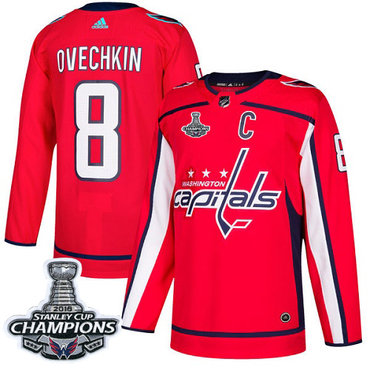 Adidas Washington Capitals #8 Alex Ovechkin Red Home Authentic Stanley Cup Final Champions Stitched NHL Jersey