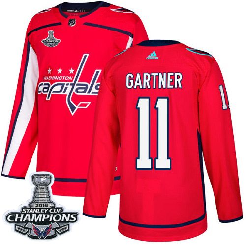 Adidas Washington Capitals #11 Mike Gartner Red Home Authentic Stanley Cup Final Champions Stitched NHL Jersey
