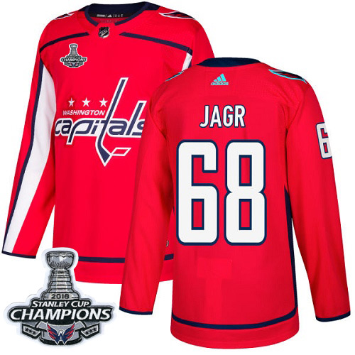 Adidas Washington Capitals #68 Jaromir Jagr Red Home Authentic Stanley Cup Final Champions Stitched NHL Jersey