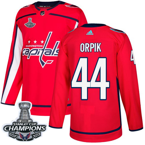Adidas Washington Capitals #44 Brooks Orpik Red Home Authentic Stanley Cup Final Champions Stitched NHL Jersey
