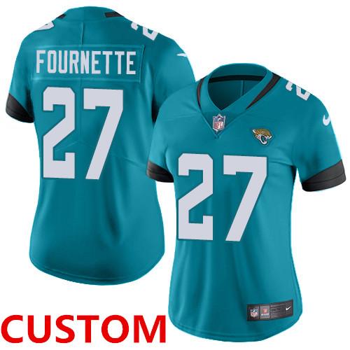 Nike Jacksonville Jaguars Teal Green Team Color Women's Stitched NFL Vapor Untouchable Limited Jersey