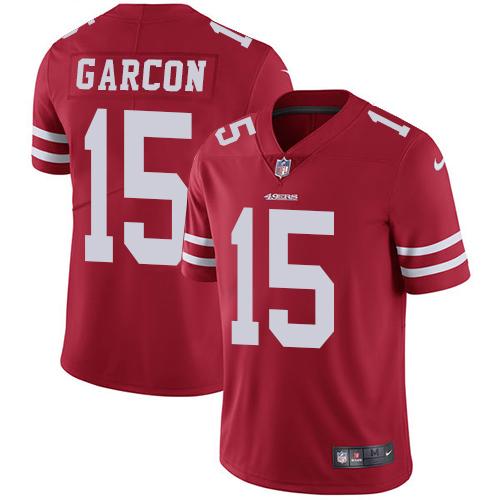 Nike 49ers #15 Pierre Garcon Red Team Color Men's Stitched NFL Vapor Untouchable Limited Jersey