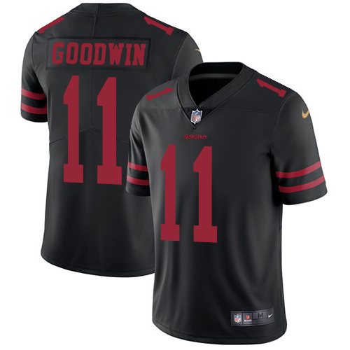 Nike 49ers #11 Marquise Goodwin Black Alternate Men's Stitched NFL Vapor Untouchable Limited Jersey