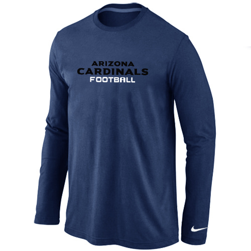 Nike Arizona Cardinals Authentic font Long Sleeve T-Shirt D.Blue