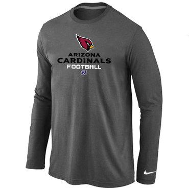 Nike Arizona Cardinals Authentic Logo Long Sleeve T-Shirt D.Grey