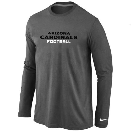 Nike Arizona Cardinals Authentic font Long Sleeve T-Shirt D.Grey