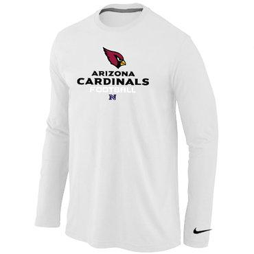 Nike Arizona Cardinals Critical Victory Long Sleeve T-Shirt White