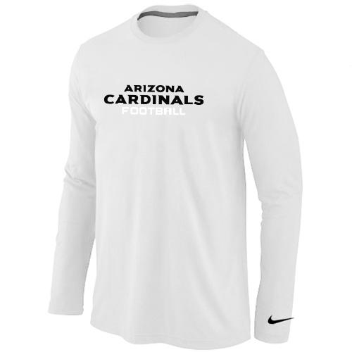 Nike Arizona Cardinals Authentic font Long Sleeve T-Shirt White