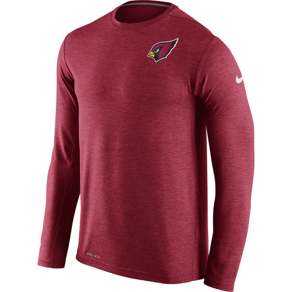 Nike Arizona Cardinals Red Dri-Fit Touch Long Sleeve Performance Men's T-Shirt