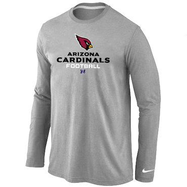 Nike Arizona Cardinals Critical Victory Long Sleeve T-Shirt Grey