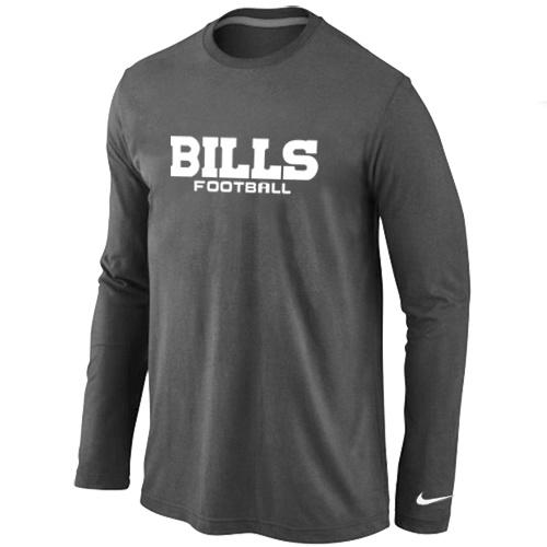 Nike Buffalo Bills Authentic font Long Sleeve T-Shirt D.Grey