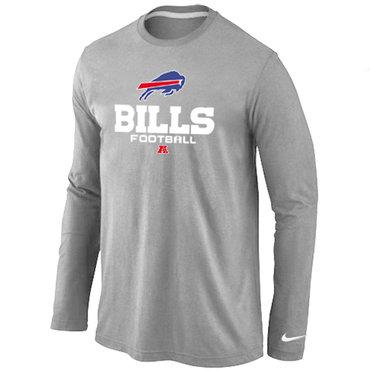 Nike Buffalo Bills Critical Victory Long Sleeve T-Shirt Grey